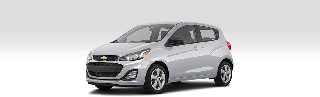 Front driver side view of 2020 Chevrolet Spark.