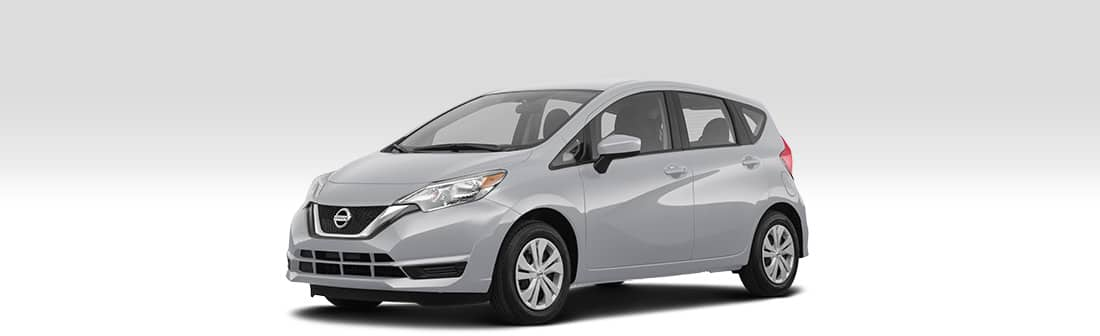 Front driver side view of 2019 Nissan Versa Note.