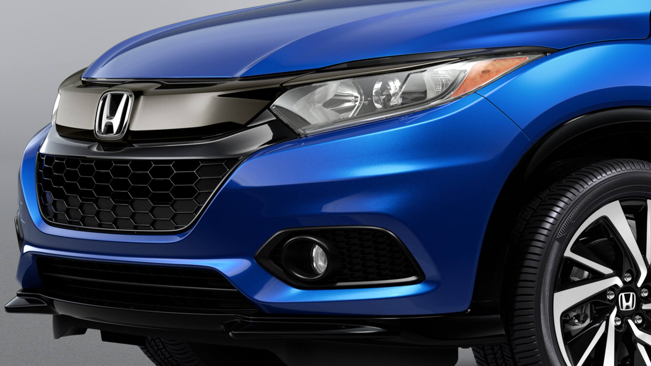 LED Daytime Running Lights detail on the 2020 Honda HR-V Sport in Aegean Blue Metallic.