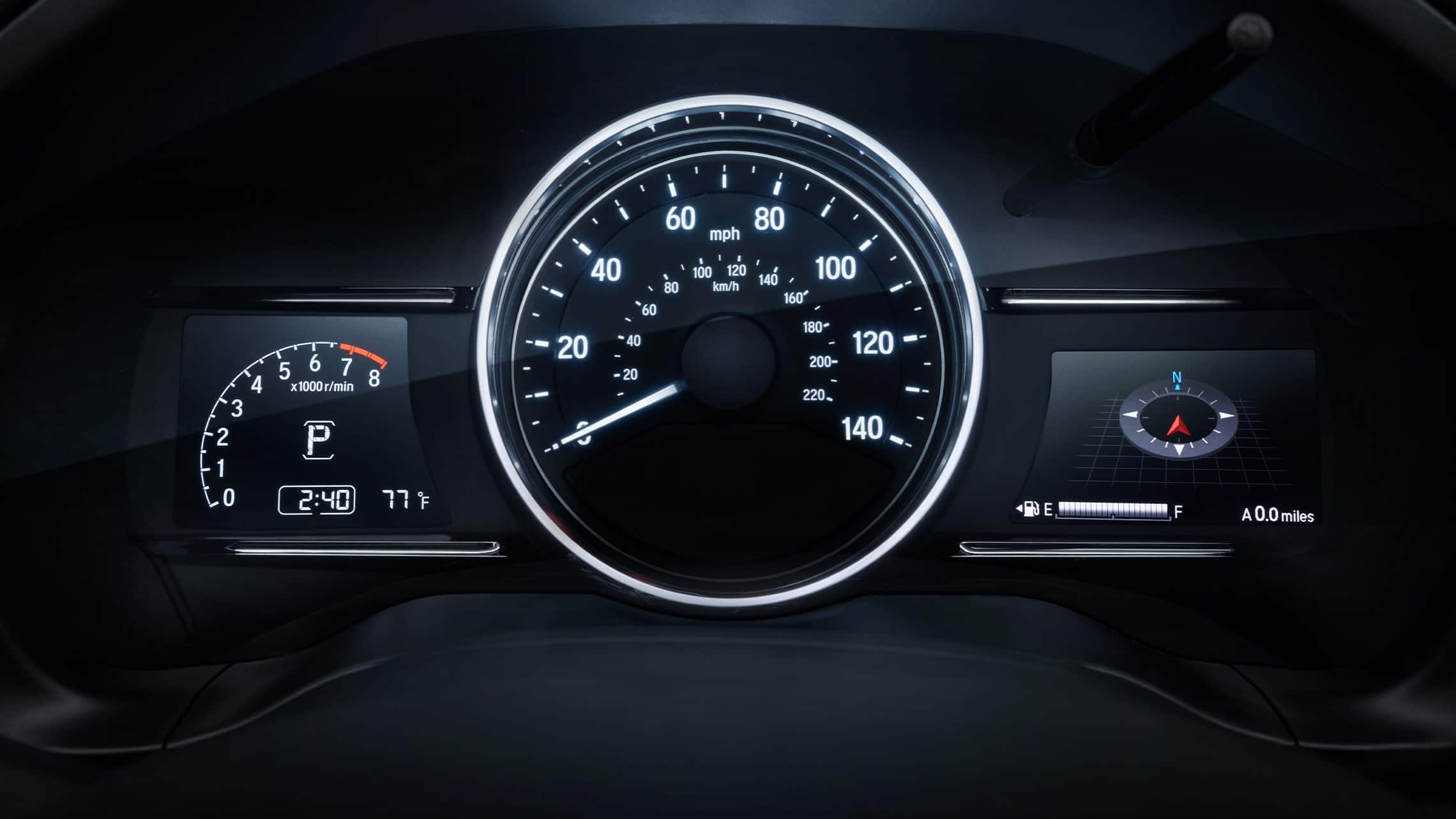 Driver Information Interface detail in the 2020 Honda HR-V Touring.
