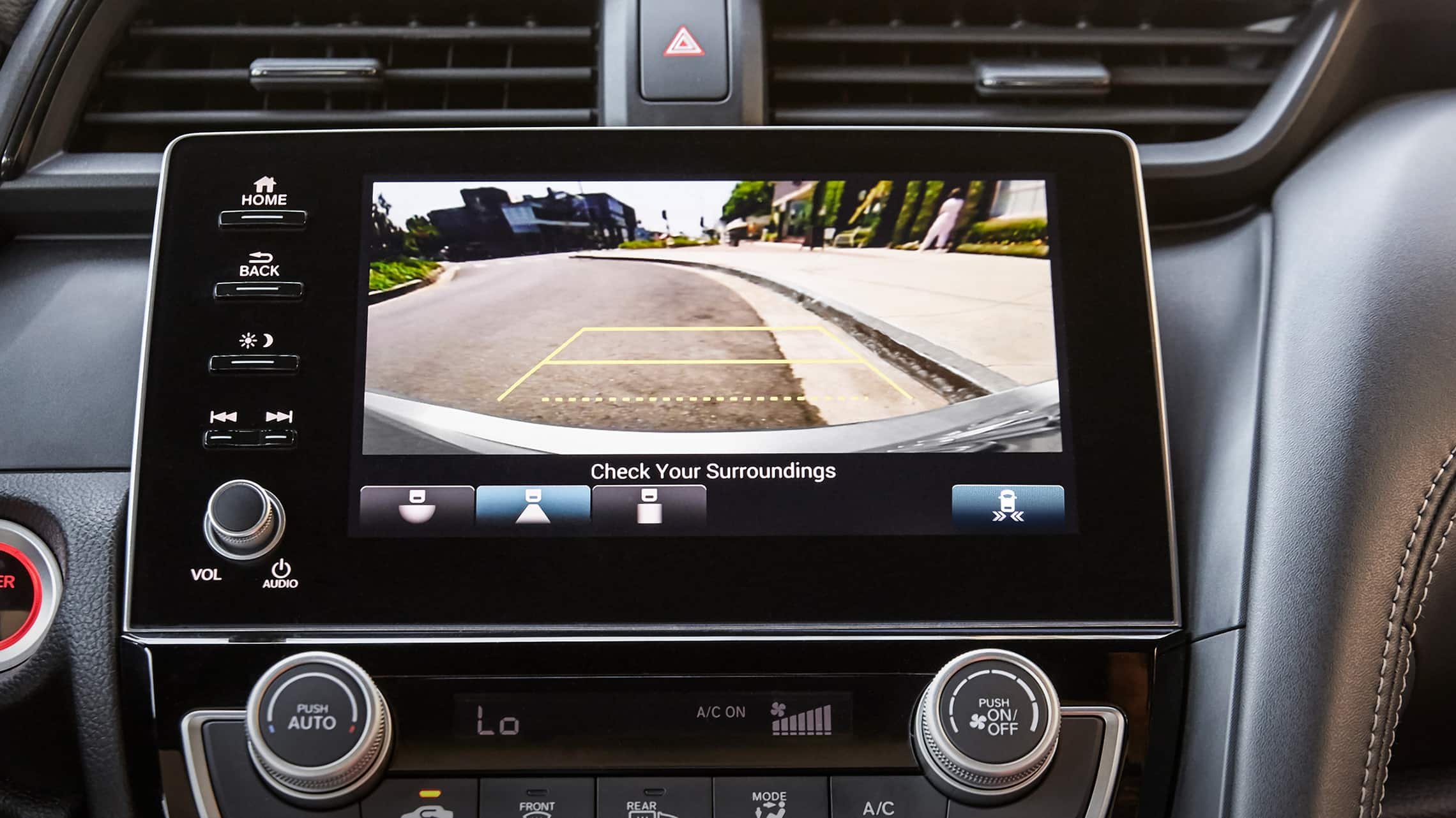 Detail of multi-angle rearview camera in the 2021 Honda Insight EX.