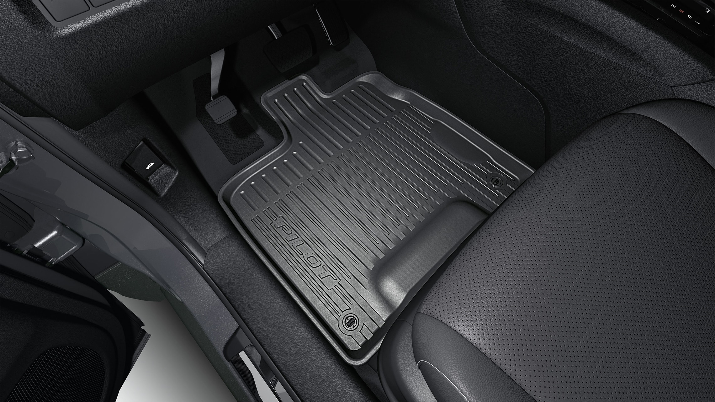 All-Season Floor Mats detail on 2021 Honda Pilot.